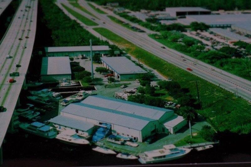 Αεροφωτογραφία του Lauderdale Boat Yard ευγένεια Jim naugle