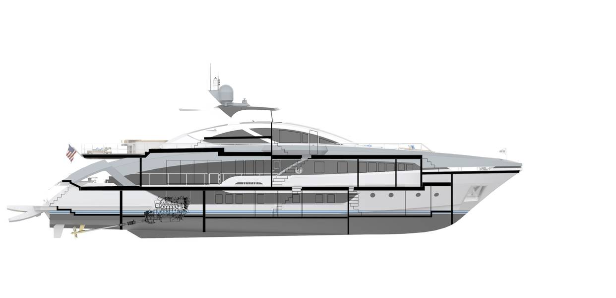 Визуализация проекта Phoenix 130 от Lazzara Ombres.