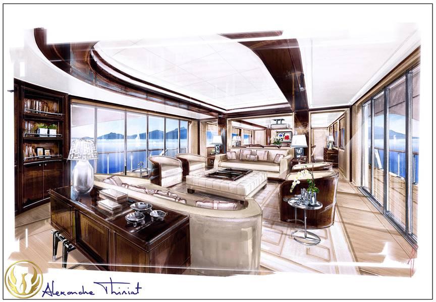 مشروع فينكس 130 لاونج من قبل اليكس ثريات.