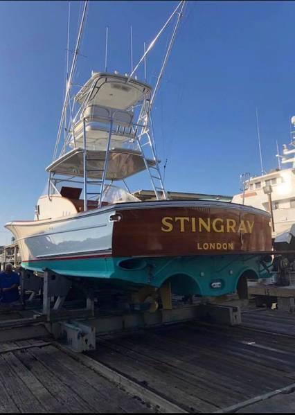 ブラッドフォードの古典的なヨットの修復。写真提供:ブラッドフォードマリン