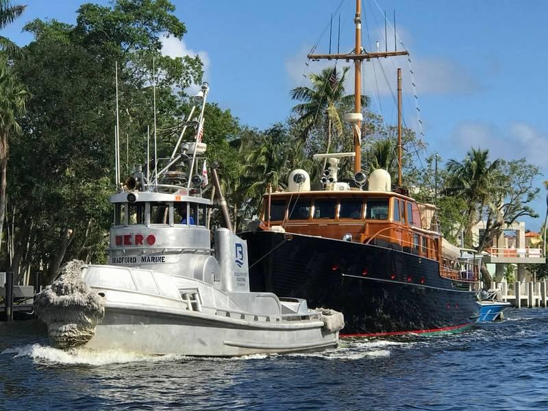 布拉德福德在新河上的拖船。照片由Capt Carl Brandes提供