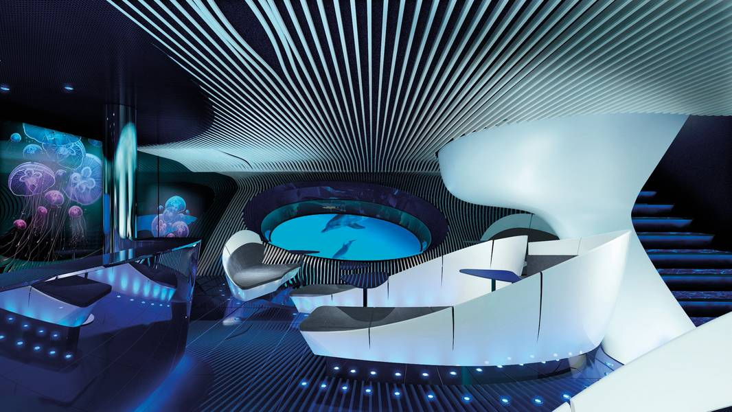 Die Blue Eye Lounge. (c) PONANT - JACQUES ROUGERIE ARCHITECTE