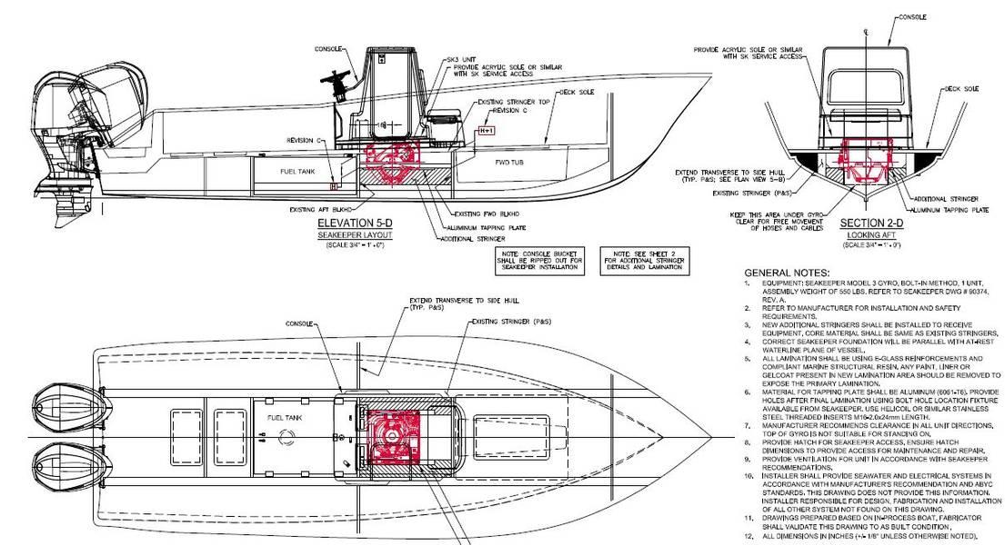 Imagem Cortesia Ocean 5 Naval Architects.