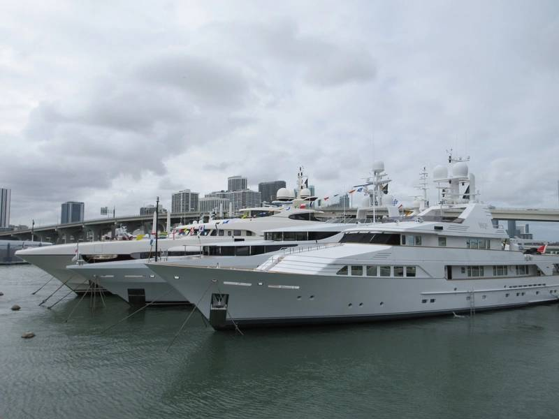 Miami Super Yacht Show 2018.Photo por Lisa Overing