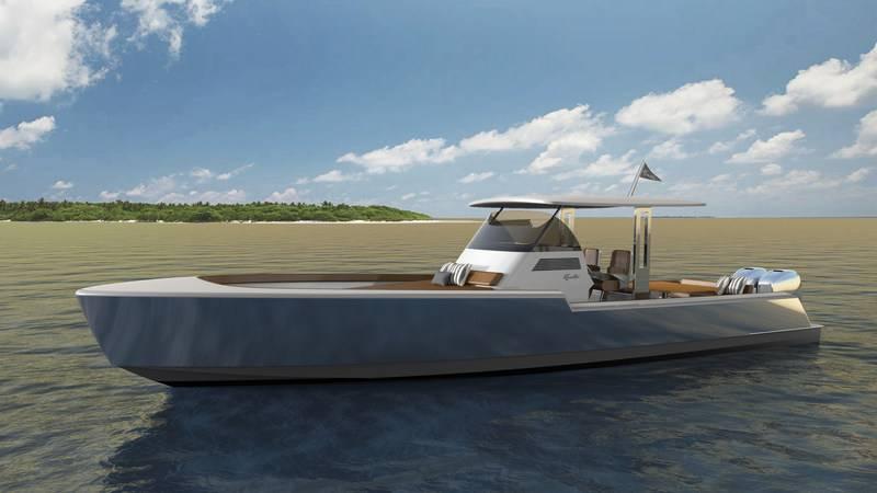 Rambler 38 ، النموذج الأول في خط من اليخوت الأمريكية الجديدة. (Photo: Rambler Yacht Co.)