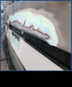 Reparación de pintura de corrosión. Fotos de Hill Robinson.