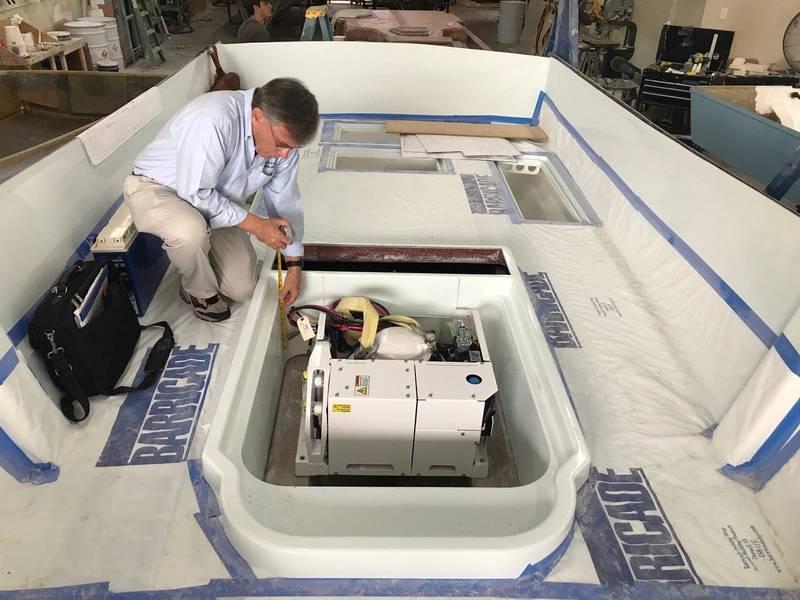 Seakeeper陀螺仪稳定系统可使船只在波涛汹涌的大海中保持稳定。图片由Ocean 5 Naval Architects提供。