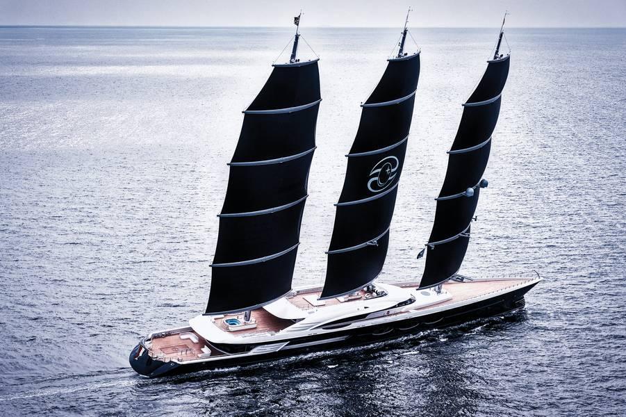 S / Y黑珍珠照片由Oceanco提供