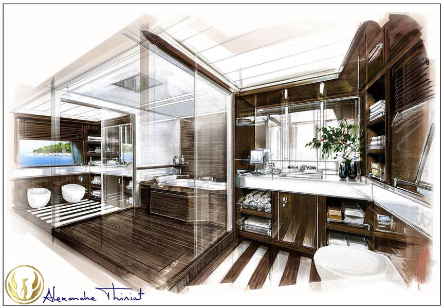 master bathPhoenix interior de cabine por Alex Thiriat.