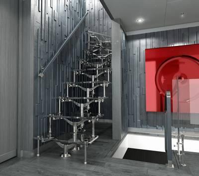 室内效果图由AKJ Design Concepts,LLC提供。
