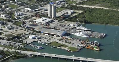 Derecktor Fort Pierce的拟议地点。 Derecktor Shipyard供图。