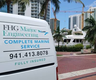FHGME为游艇的发动机室提供移动服务。 FHGME供图。