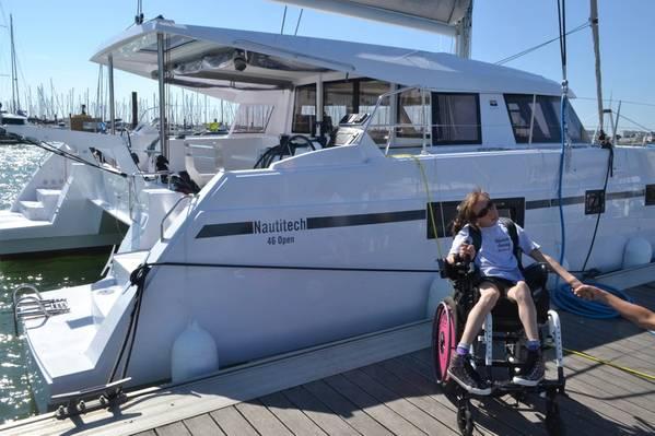 如果她成功,娜塔莎兰伯特将成为第一个使用呼吸控制穿越大西洋的四肢瘫痪女性船长。图片由Natasha Lambert提供。