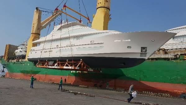 Der neueste Hargrave ist eine 120-Fuß-Motoryacht für Galati. Foto mit freundlicher Genehmigung von Hargrave Custom Yachts