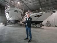 Davide Breviglieri, CEO of_Azimut Yachts do Brasil at the Azimut boatyard in the state of Santa Catarina. Image: Azimut Yachts