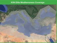 KVH Elite Mediterranean coverage (Photo: KVH)