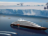 """Recreation of the """"Scenic Eclipse"""" on a polar cruise. ©Oliver Design"""