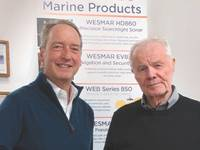 Roger Fellows, new WESMAR owner (left), and Bruce Blakey, company founder (Photo: WESMAR)