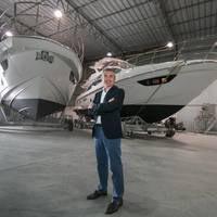 Davide Breviglieri, CEO of_Azimut Yachts do Brasil at the Azimut boatyard in the state of Santa Catarina. Image: Azimut Yachts
