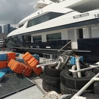 Forwin alongside in Hong Kong, where Sperry Marine service engineers diagnosed and repaired its malfunctioning steering system. Image Courtesy Sperry Marine