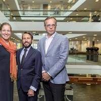 Hadewych Reintsema, Design and Proposal Manager Cruise, Damen Shipyards Group; Andrea Trevisan, Sales Director Cruise New Building, Damen Shipyards Group; and Henk Grunstra, Product Director Cruise and Ferries, Damen Shipyards Group (Photo: Damen)