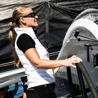 Helmsperson: Photo courtesy of Spindrift Racing