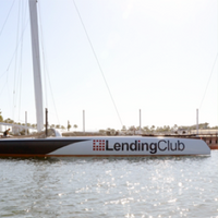 Lending Club trimaran yacht: Photo courtesy of Lending Club