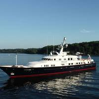 M/Y Minderella. Photo courtesy Of Merle Wood.