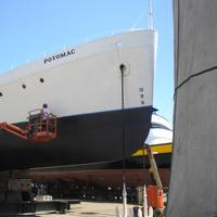The presidential yacht, Potomac, recently underwent maintenance drydocking at Bay Ship and Yacht in Alameda, Calif. (Photo: Business Wire)