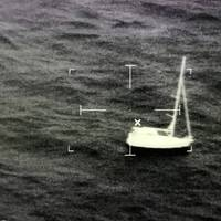 The sailboat Preston Point about 14 miles west of Key West, Fla. The sailboat owners called Coast Guard Sector Key West watchstanders at approximately 6:30 p.m, Saturday, September 12, stating their engine was disabled, adrift and in danger of capsizing. (U.S. Coast Guard photo)