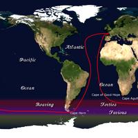 Vendée Globe Route: Image credit Wiki CCL