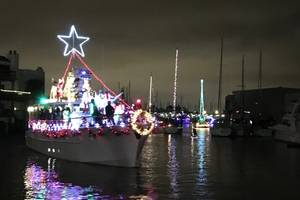 M/V Southern Star. West End Boat Parade New Orleans. Photo by Lisa Overing