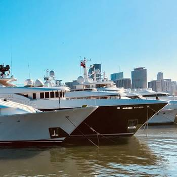 Miami Super Yacht Show on Watson Island 2018. Photo by Lisa Overing