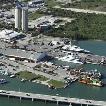 Proposed locations for Derecktor Fort Pierce. Photo courtesy Derecktor Shipyard.