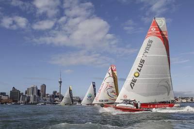 The fleet left Auckland for Itajai - Photo by Volvo Ocean Race