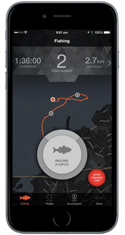 GoFree Hooked fishing app.