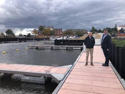 Newark Marina's James Wilkinson (right)  with Jon Challis of Inland and Coastal (Photo: Inland and Coastal)
