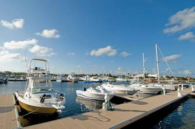Poralu Docks at the Cayman Islands Yacht Club (Photo courtesy of Dart Realty)