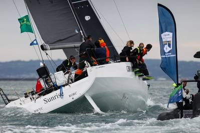 Sunrise, JPK 11.80 of Britain's Tom Kneen has been crowned overall winner of the 2021 Rolex Fastnet Race © Paul Wyeth/pwpictures.com