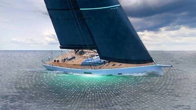 BAE Systems' HybriGen® Power and Propulsion system will reduce emissions and fuel consumption for a quiet, clean, and efficient experience on the superyacht, which is designed for both long-range cruising and regatta racing. (Photo: Southern Wind Shipyard)