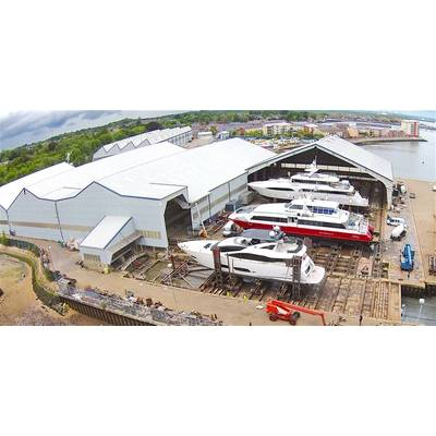 Aerial shot of Solent Refit at Hythe (Photo: YachtProjects)