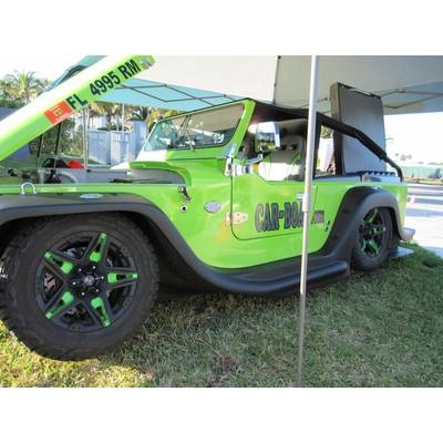 See amphibious, street legal cars at Miami Yacht Show. Photo by Lisa Overing.