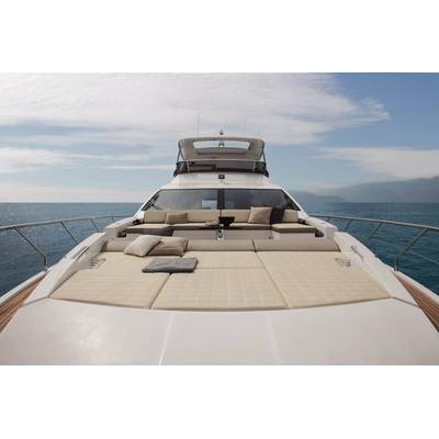 Azimut 74' Bow View. Image courtesy of Azimut Yachts