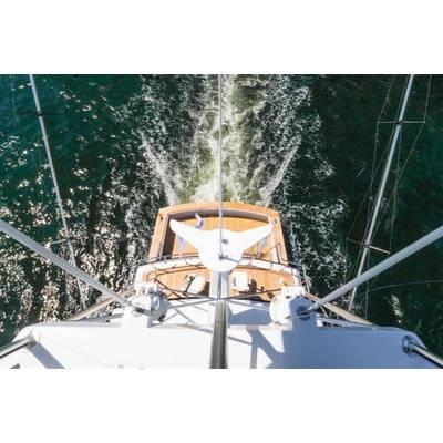 M/Y Comanche tuna tower courtesy of Gilman Yachts