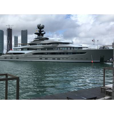 M/Y Kismet by Lurssen is the largest superyacht at Miami Yacht Show. Photo by Lisa Overing.