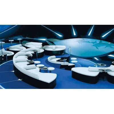 The Blue Eye Lounge.  (c) PONANT - JACQUES ROUGERIE ARCHITECTE