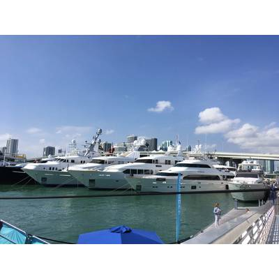 Miami Yacht Show on Watson Island. Photo by Lisa Overing.