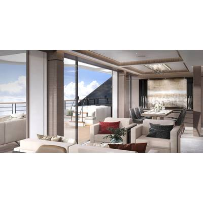 Owner's Suite Dayroom. Photo credit: The Ritz Carlton Yacht Collection