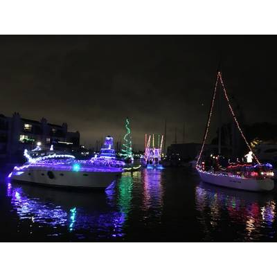 West End Boat Parade, Municipal Yacht Harbor. New Orleans. Photo by Lisa Overing