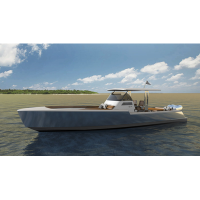 Rambler 38, the first model in a line of new American yachts. (Photo: Rambler Yacht Co.)